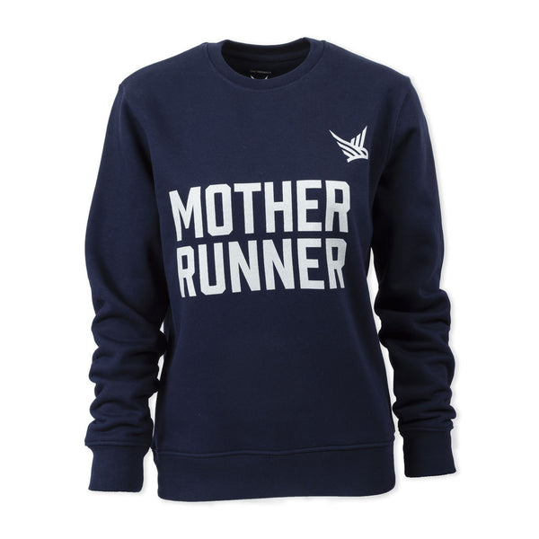 TMR Mother Runner. Organic Sweatshirt. French Navy / Metallic Silver