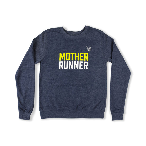 TMR Mother Runner Sweatshirt. Heather Navy.