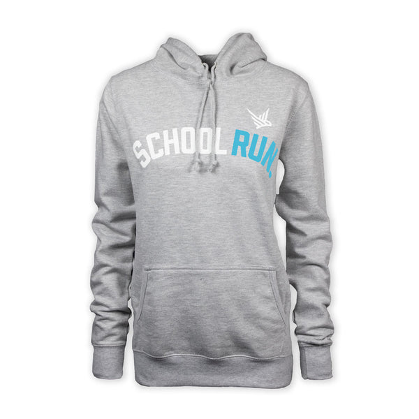TMR School Run Hoodie - Light Heather Grey