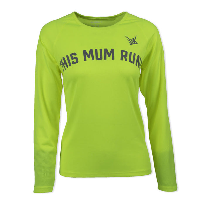This Mum Runs High Vis Running Top - women's running clothing