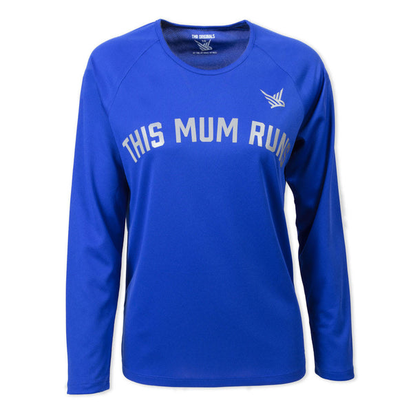 TMR Long Sleeved Running Tee - This Mum Runs - Royal Blue