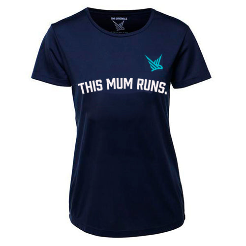 TMR This Mum Runs - Running Tee - French Navy