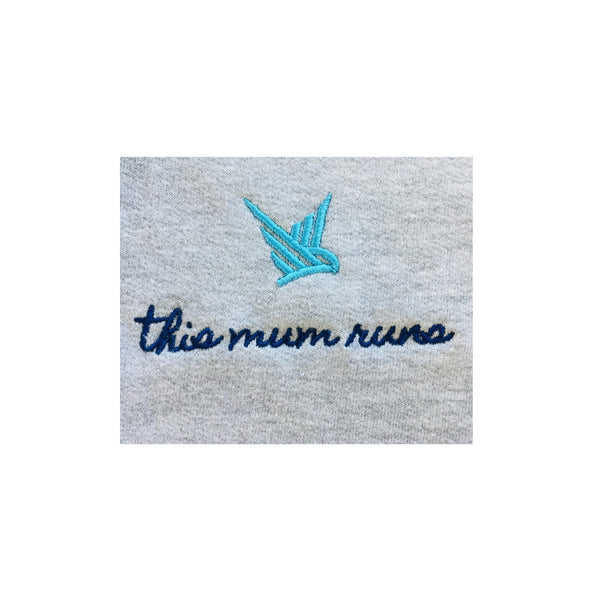 TMR This Mum Runs Zip-Up Hoodie - Light Heather Grey