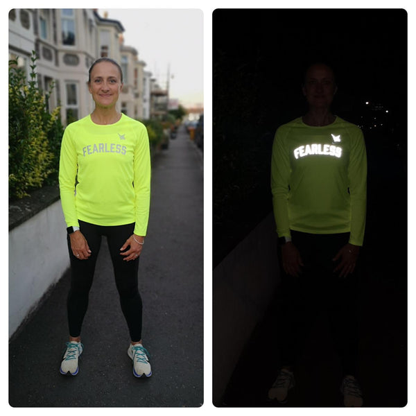 TMR Long Sleeved Running Tee - Fearless - Neon
