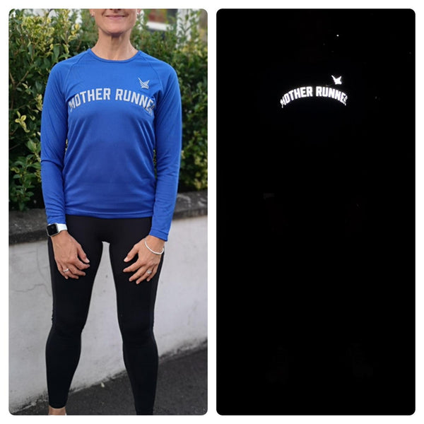 TMR Long Sleeved Running Tee - Mother Runner - Royal Blue