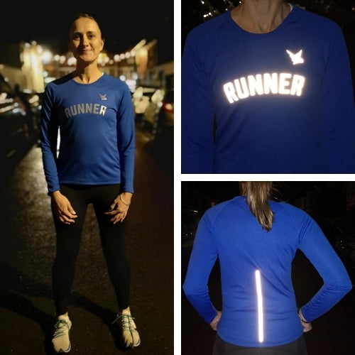 TMR Long Sleeved Running Tee - Runner - Royal Blue