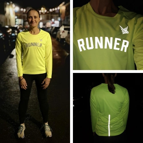 This Mum Runs Runner High Vis Running Top - women's running clothing
