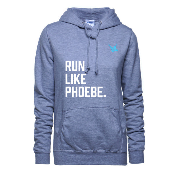 TMR Run Like Phoebe Hoodie - Light Heather Grey