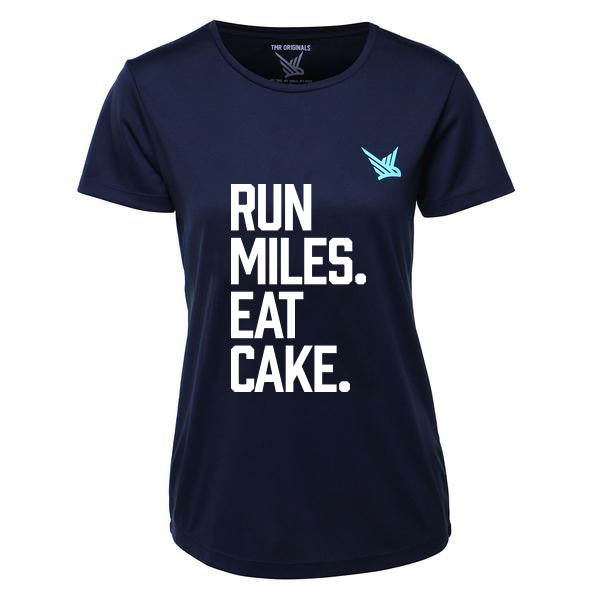 TMR Run Miles. Eat Cake T-shirt