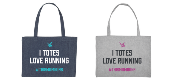 Totes Love Running Canvas Shopper