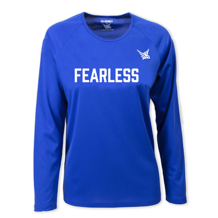 TMR Long Sleeved Running Tee - Fearless - Royal Blue