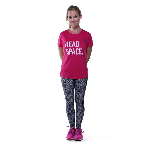 TMR Headspace Running Tee - Hot Pink