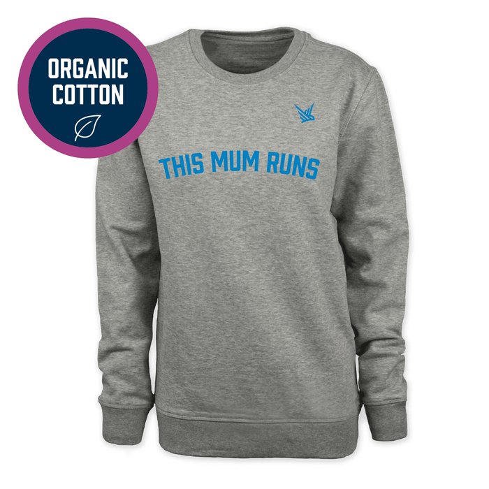 This Mum Runs- Light Grey Sweatshirt