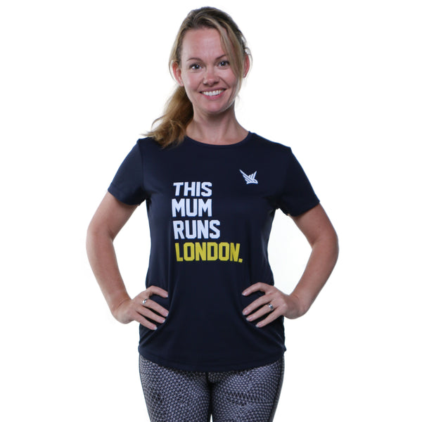 TMR LONDON Running Tee - French Navy