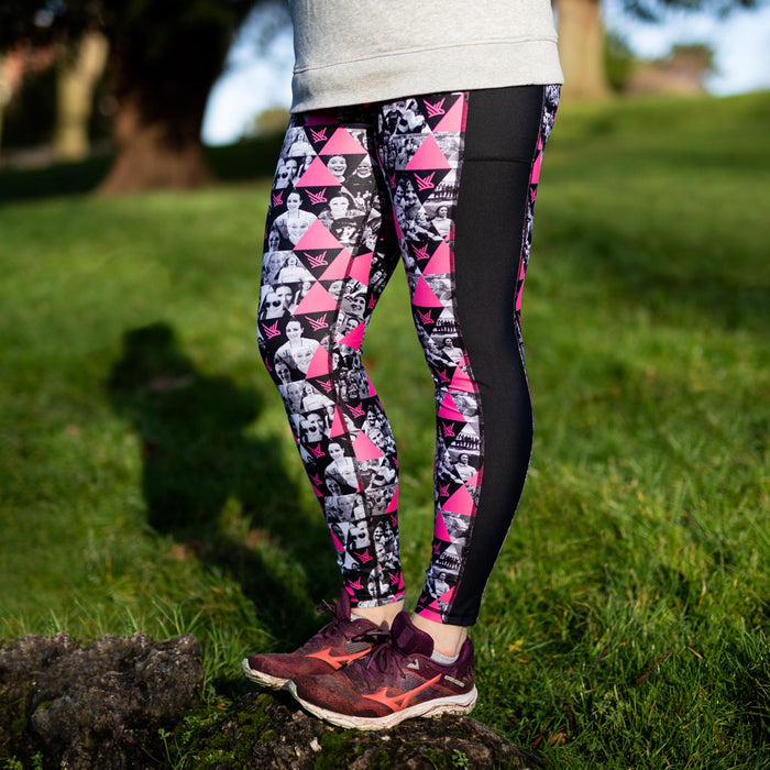 This Mum Runs Together Bright Pink Leggings - Women's Running Clothes
