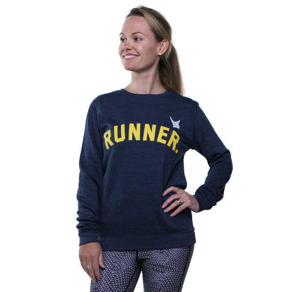 TMR RUNNER. Sweatshirt. Heather Navy.