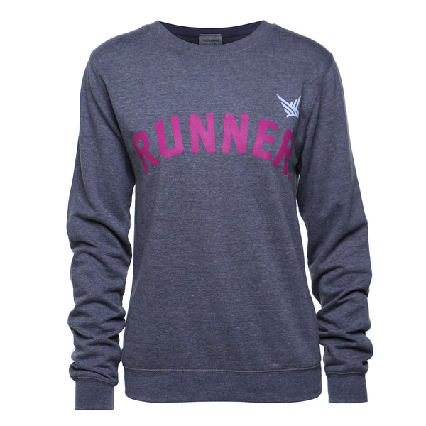 TMR RUNNER. Sweatshirt. Heather Grey