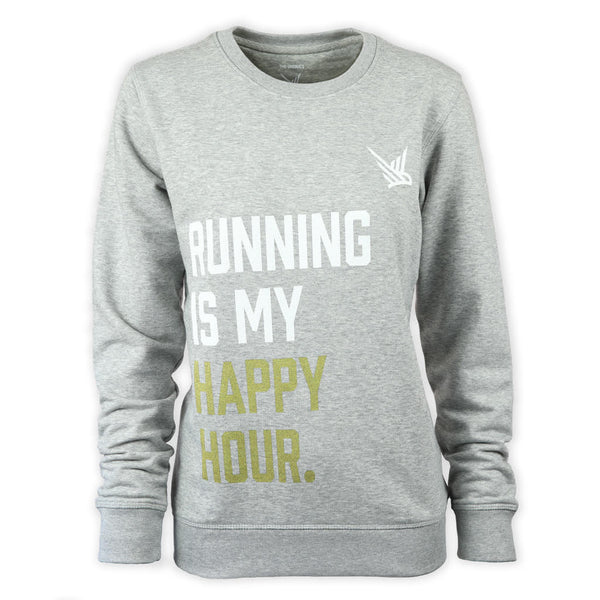 TMR Running is My Happy Hour Organic Sweatshirt (New for 2019)