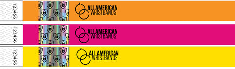 Foil Tyvek Wristbands