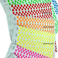 1inch Tyvek Paper Wristband Checkers 500