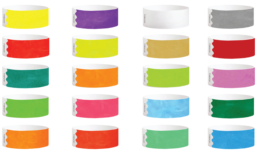 1inch Closeout Wristband Solid Colors 1000