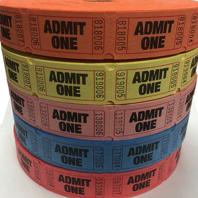 Admit One Tickets Roll Of 2000