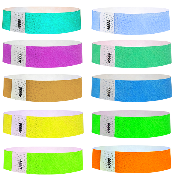 3/4 Standard Wristband Solid Colors 500 Box