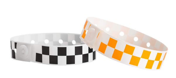 Plastic Wristbands Checker Board