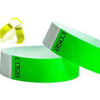 3/4 Duplicate Numbered Tyvek Wristbands 500