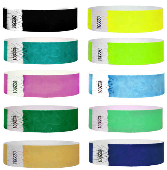 3/4 Fiberband Wristband Solid Colors 500 Box