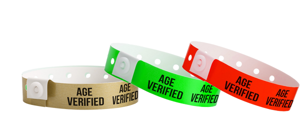 Plastic Wristbands Age Verified