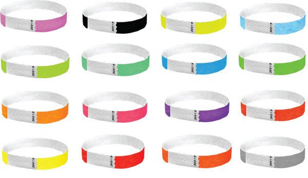 1/2 Tyvek Wristbands Solid Colors 500