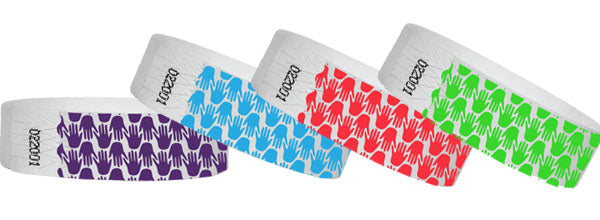 3/4 Tyvek Wristband Design Hands 500