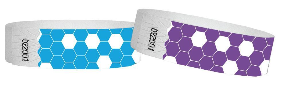 3/4 Tyvek Wristband Carnival HoneyComb SALE