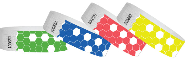 3/4 Tyvek Wristband Design HoneyComb 500
