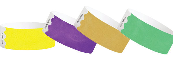 1inch Tyvek Paper Wristband Solid Colors 1000