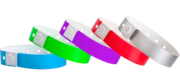 Plastic Wristband Solid Colors 500