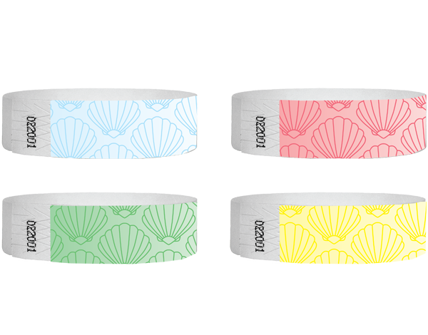 3/4 Tyvek Wristband Sea Shells 500