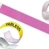 1inch Tyvek Paper Wristband Tabless Solid Colors 500