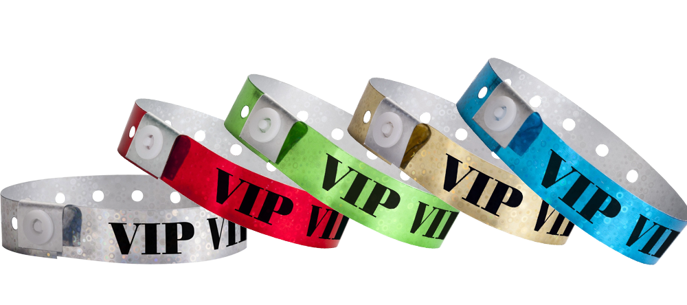 Plastic VIP Hologram Wristbands