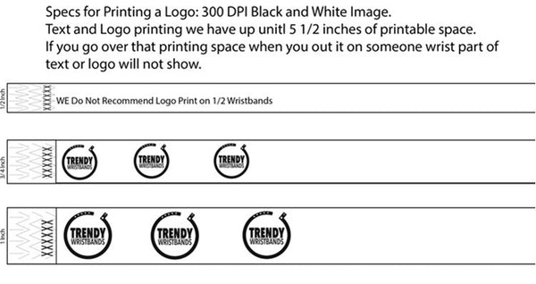 You can include your text and logo on a wristband.