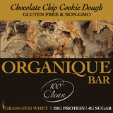 CHOCOLATE CHIP COOKIE DOUGH BARS [12 count] (Grass-Fed)