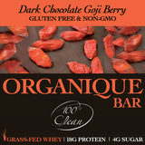 DARK CHOCOLATE GOJI BERRY BARS [12 count] (Grass-Fed)