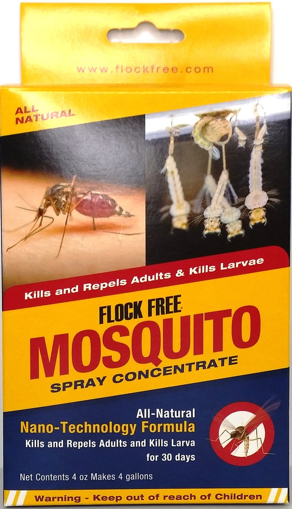 Flock Free Mosquito Spray, 4 oz concentrate