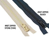Bird Netting Zipper Black HD - 2 Feet long - BIRD CONTROL - FLOCK FREE