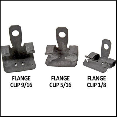 "Bird Netting Flange Clips 1/8"" Pack of 100 - BIRD CONTROL - FLOCK FREE"