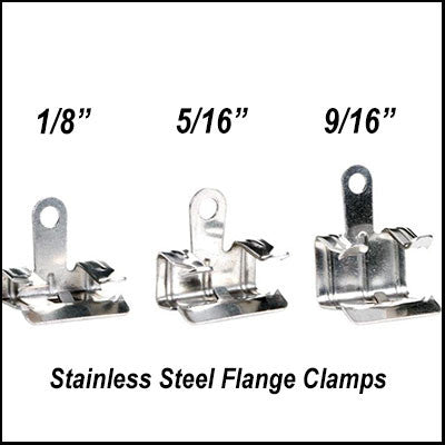 "Bird Netting SS Flange Clips 1/8"" Pack of 100 - BIRD CONTROL - FLOCK FREE"
