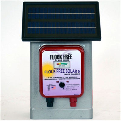 HD Solar Charger for Hot Wire and Shock Tape - BIRD CONTROL - FLOCK FREE
