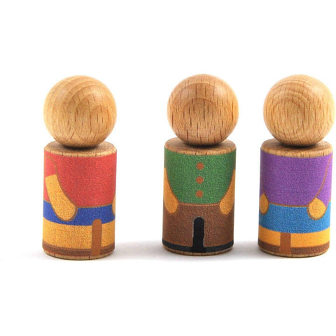 3 bonhommes - Colour the clothes of your wooden toy! - oi-blocks - Christmas Gifts - Cadeaux Noel - The best Swiss online department store!