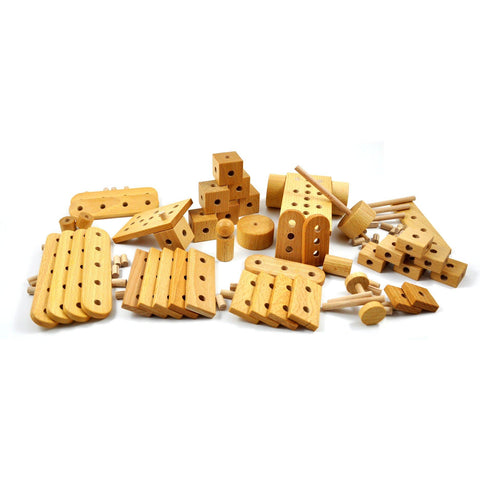 Construction nu - Wooden construction toy made in Switzerland - oi-blocks - Christmas Gifts - Cadeaux Noel - The best Swiss online department store!